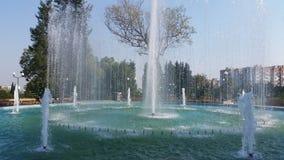 在stara zagora的喷泉 免版税库存照片