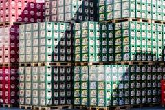 在Starobrno啤酒厂储藏站点在布尔诺,捷克 库存照片
