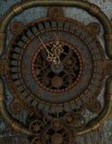 在Steampunk样式的时钟 免版税库存照片