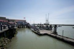 在Steveston的码头 库存图片