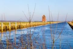 在Stickhausen附近的Nordgeorgsfehnkanal 图库摄影
