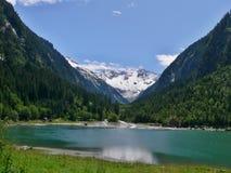 在Stillupspeicher的奥地利阿尔卑斯外型 图库摄影