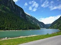 在Stillupspeicher的奥地利阿尔卑斯外型 库存图片