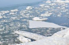 在StLawrence河的冰 库存照片
