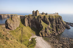 在Stonehaven附近的Dunnottar城堡在苏格兰 免版税图库摄影