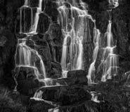 在Storr的老人的附近瀑布 库存照片