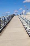 在Stranahan河的开启桥在劳德代尔堡 库存图片