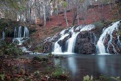 在Strandja山,保加利亚的瀑布Dokuzak 免版税图库摄影