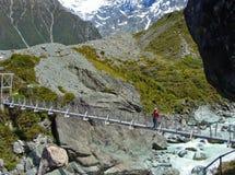 在streem上的狭窄的桥梁 免版税库存图片