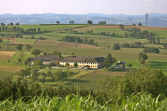 在Strengberg附近的奥地利乡下 免版税库存照片