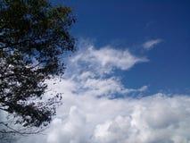 在strom前的多云天空背景 免版税库存图片