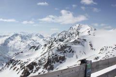 在Stubai冰川的风景 免版税库存图片