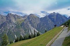 在Stubai阿尔卑斯在蒂罗尔 库存照片