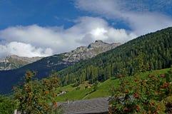 在Stubai阿尔卑斯在蒂罗尔 免版税库存照片