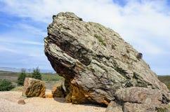 在Studland荒地的Agglestone岩石在多西特 免版税库存照片