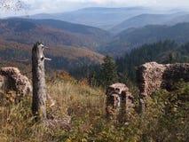 在Sudety的Waligora峰顶在波兰 库存图片