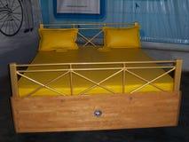在Sudha汽车博物馆,海得拉巴的双人床汽车 库存图片
