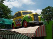 在Sudha汽车博物馆,海得拉巴的被绘的汽车 库存照片