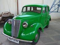 在Sudha汽车博物馆,海得拉巴的绿色葡萄酒汽车 免版税库存图片