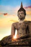 在Sukhothai历史公园,联合国科教文组织世界遗产名录站点的Wat Mahathat寺庙 库存图片