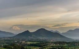 在Sumedang, Jawa Barat的角落的下午 库存图片