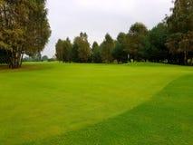 在summe期间的高尔夫球场 免版税库存照片