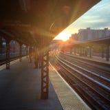 在sumway的日落布赖顿bich 图库摄影