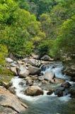 在Sungai Kanching, Rawang,雪兰莪,马来西亚的瀑布 免版税库存图片