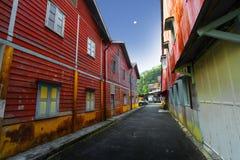 在Sungai lembing的城镇的界面批次 免版税图库摄影
