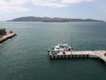 在Suria沙巴的加亚岛视图 免版税库存图片