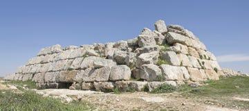在Susya附近的古老Hasmonean堡垒在约旦河西岸 免版税库存图片