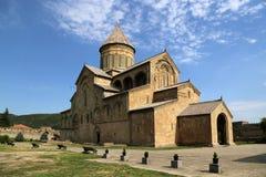 在Svetitskhoveli大教堂的看法是格鲁吉亚东正教的寺庙 库存图片