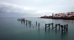 在Swanage的老码头 库存图片