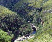 在Swartberg通行证的山沟 库存图片