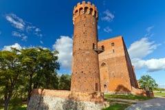 在Swiecie的条顿人城堡,波兰 免版税库存照片