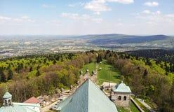 在Swietokrzyskie山的看法 图库摄影