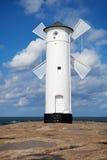 在Swinoujscie的灯塔 免版税库存图片