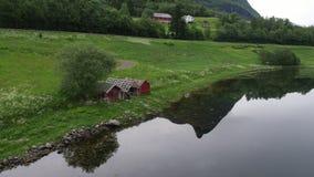 在Sykylven附近的挪威海湾 股票录像