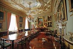 在Syon议院里面的盛大餐厅 库存照片
