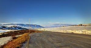 在Sysenvatnet附近的路 免版税图库摄影
