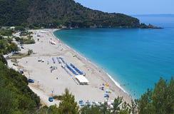 在Syvota,希腊的Karavostasi海滩 免版税库存图片