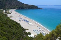 在Syvota,希腊的Karavostasi海滩 图库摄影