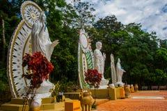 在Ta古芝山,平顺省,越南的Buddah雕象 图库摄影