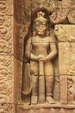 在Ta索马里兰寺庙的浅浮雕, Angkor地区,暹粒市,柬埔寨 库存图片