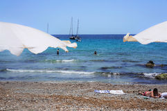在Tabarca3的海滩 库存图片