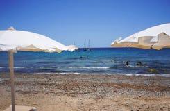在Tabarca2的海滩 库存照片