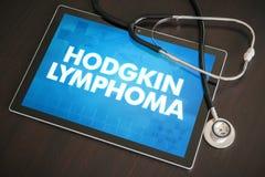 在tabl的霍奇金淋巴瘤(癌症类型)诊断医疗概念 免版税图库摄影
