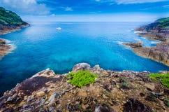 在tachai海岛的Sea&sky 免版税库存图片