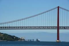 在tagus的桥梁 库存照片