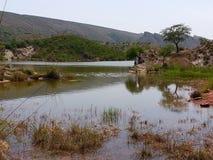 在tahliyan的dhoke的水坝 库存照片